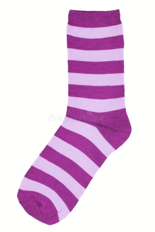 Los calcetines púrpuras rayados imagen de archivo
