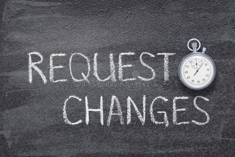 Los cambios de la petición miran foto de archivo