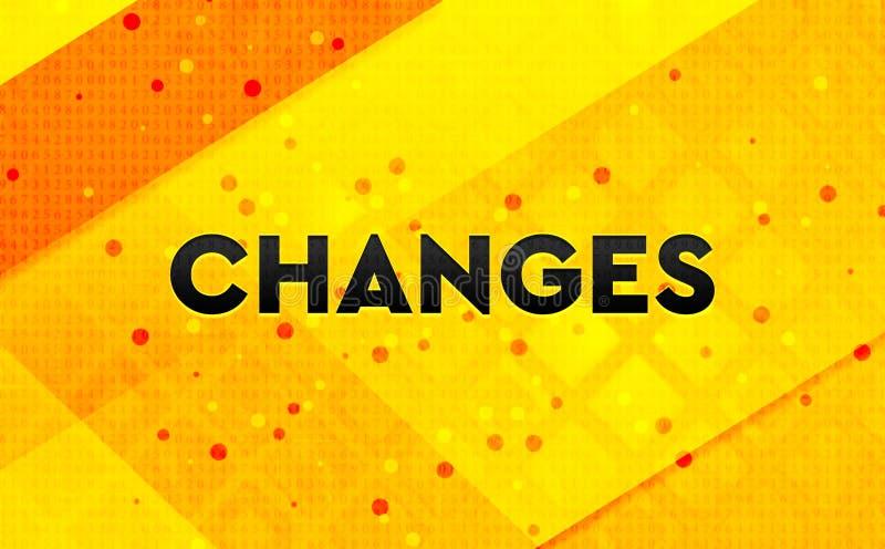 Los cambios resumen el fondo amarillo de la bandera digital stock de ilustración