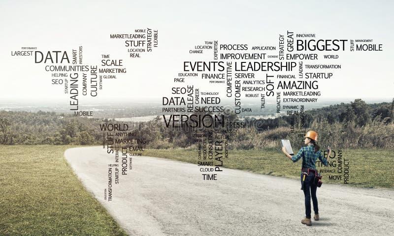 Los caminos conectan el mundo imagenes de archivo