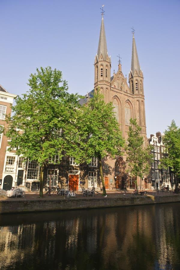 Los canales de Amsterdam fotografía de archivo libre de regalías
