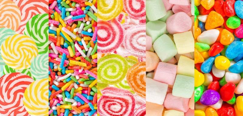 Los caramelos coloridos clasificaron el fondo determinado fotos de archivo libres de regalías