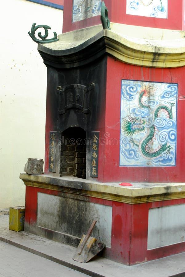 Los chinos rituales cuecen al horno fotos de archivo