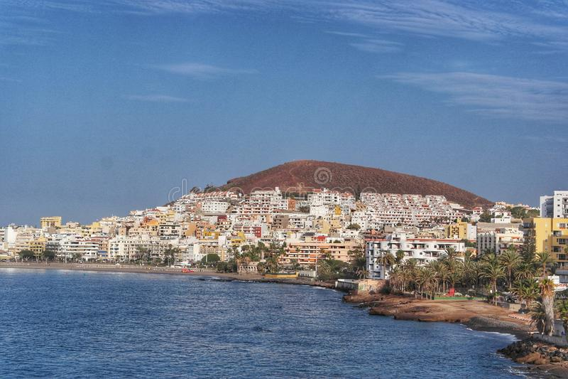Los Christianos Baai Tenerife royalty-vrije stock afbeelding