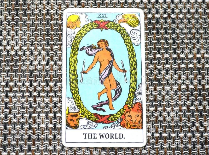 Los ciclos del estadio final de Succes del viaje de la carta de tarot del mundo libre illustration