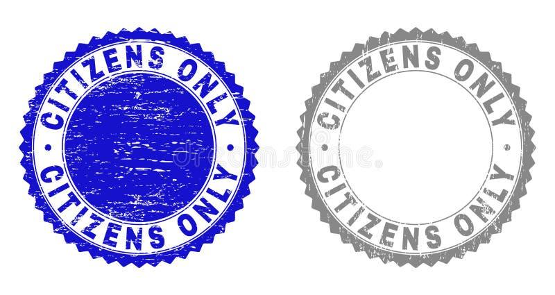 Los CIUDADANOS del Grunge rasguñaron SOLAMENTE los sellos del sello libre illustration