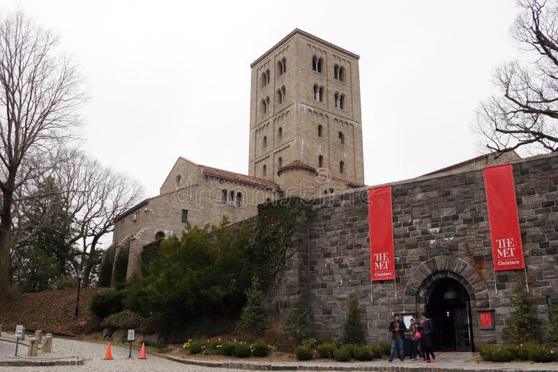 Los claustros encontrados, el museo de arte metropolitano fotos de archivo libres de regalías