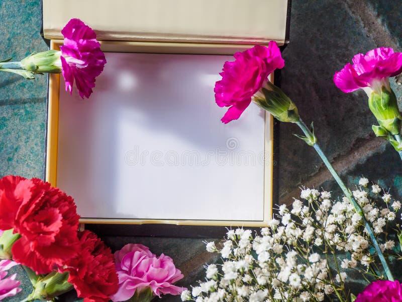 Download Los Claveles Coloridos Con El Espacio De La Caja Y De La Copia En El Granito Emergen Imagen de archivo - Imagen de rojo, tarjeta: 100529317