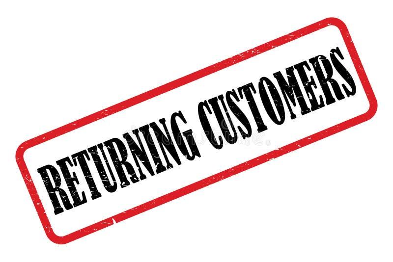 Los clientes de vuelta sellan ilustración del vector