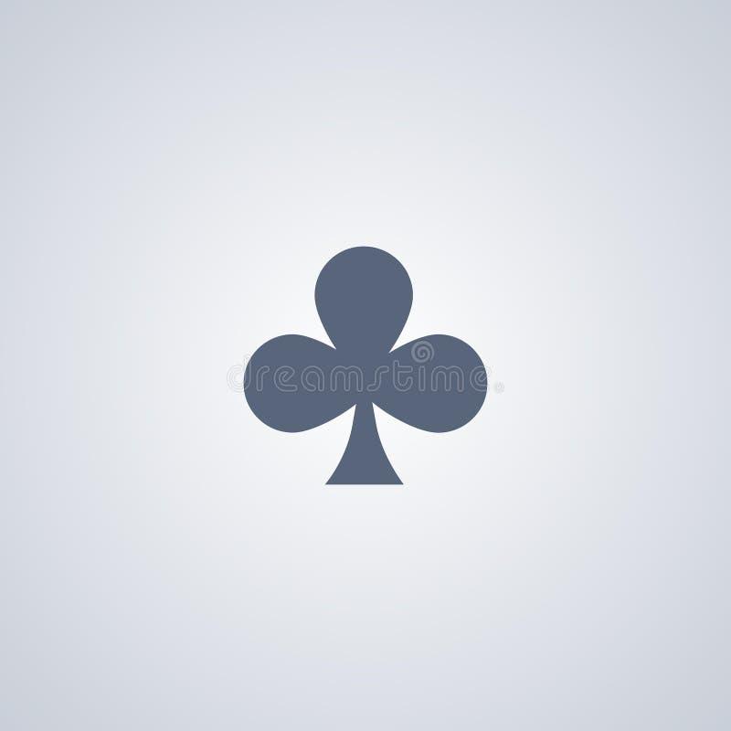 Los clubs, trébol, vector el mejor icono plano ilustración del vector