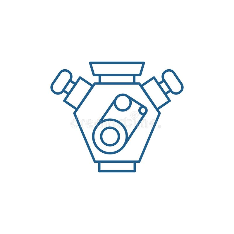 Los coches de motor alinean concepto del icono S?mbolo plano del vector de los coches de motor, muestra, ejemplo del esquema