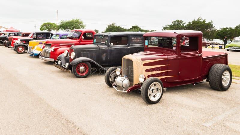 Los coches en el Lonestar reúnen imagen de archivo libre de regalías