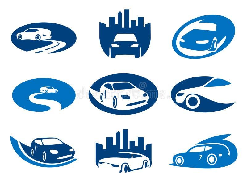 Los coches simbolizan y los modelos de la insignia libre illustration