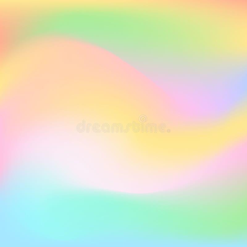 Los colores blancos borrosos de pascua de la primavera del amarillo rosado liso fresco colorido suave del verde azul alisan el fo stock de ilustración