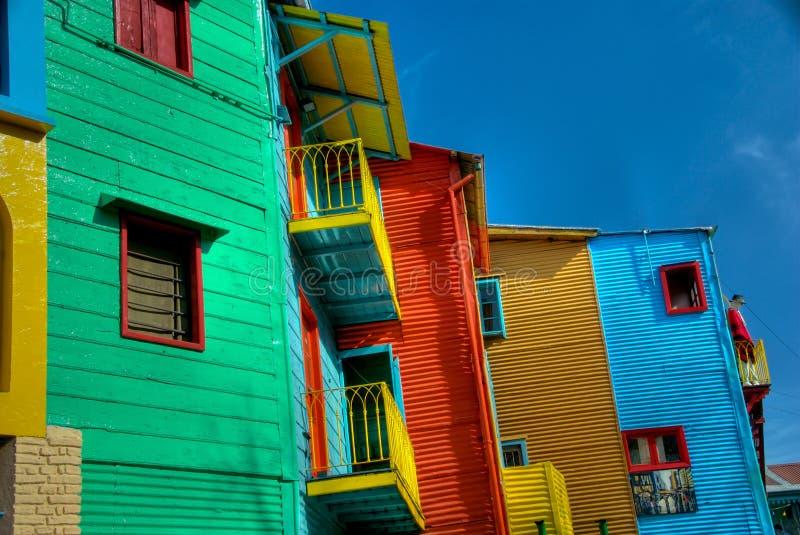 Los colores de Caminito imagen de archivo libre de regalías