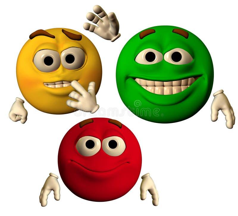 Los colores de la alegría ilustración del vector