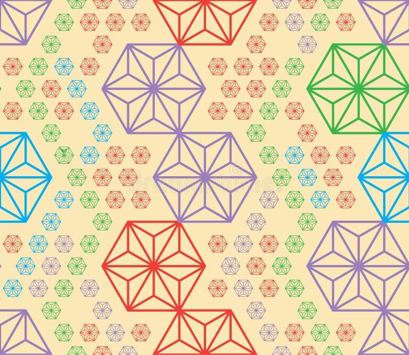 Los colores del triángulo del corte del hexágono perturban el modelo inconsútil de la simetría libre illustration