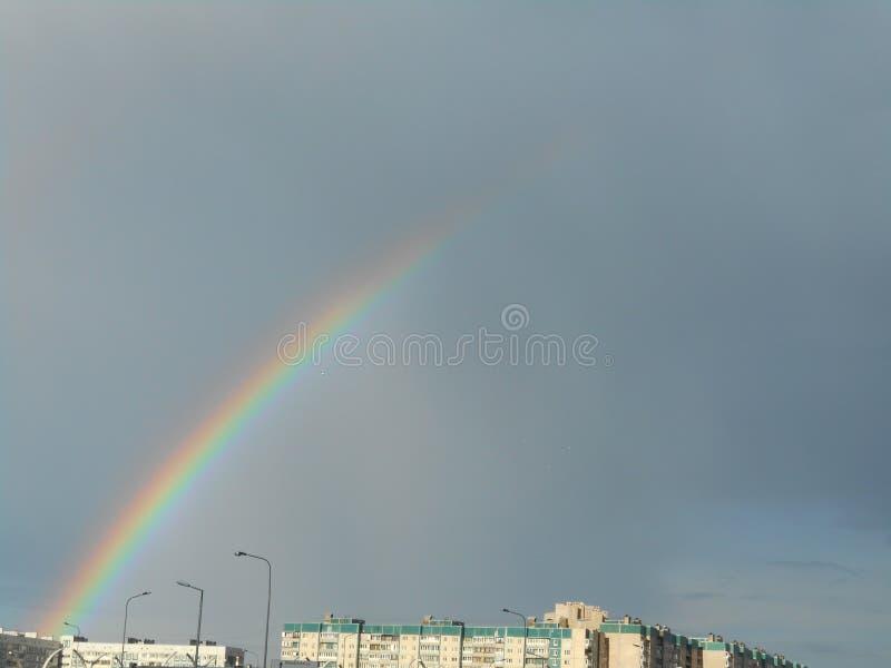 Los colores en el cielo imagenes de archivo