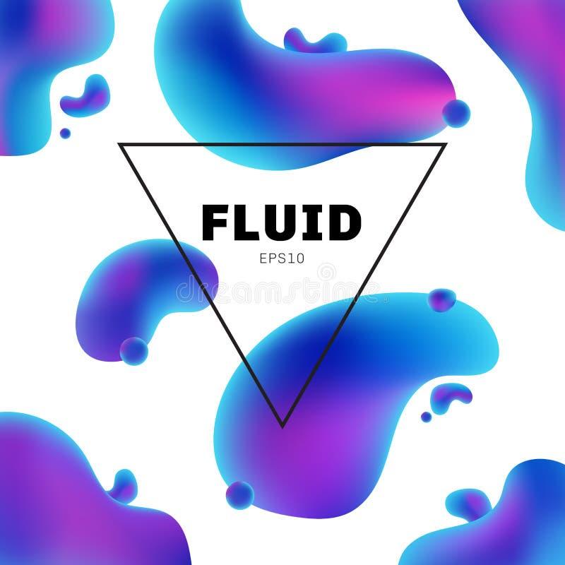 Los colores olográficos flúidos del extracto forman con el fondo moderno del marco de texto con diseño de moda Usted puede utiliz libre illustration