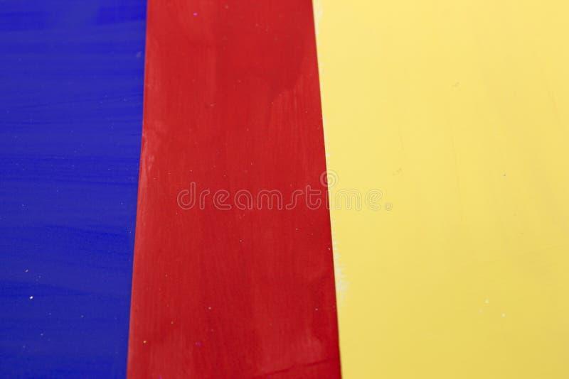 Los colores primarios rayaron el fondo imágenes de archivo libres de regalías