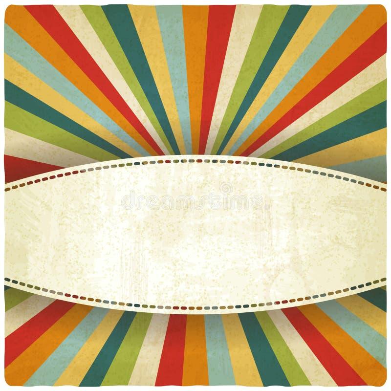 Los colores retros rayaron el viejo fondo ilustración del vector