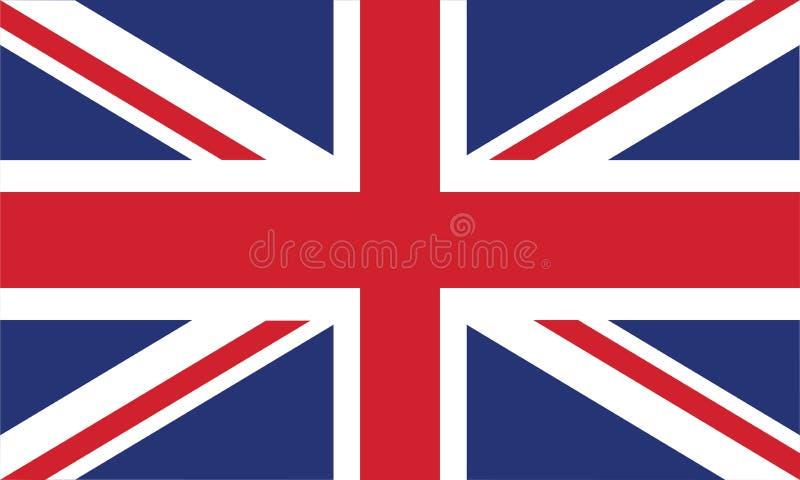 Los colores y la proporción oficiales de la bandera de Inglaterra vector correctamente el ejemplo ilustración del vector