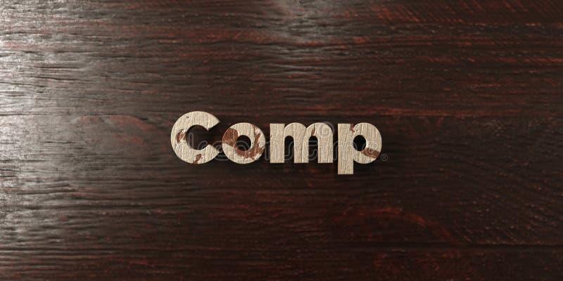 Los comp - título de madera sucio en arce - 3D rindieron imagen común libre de los derechos stock de ilustración
