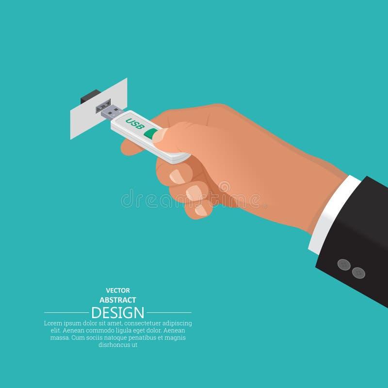 Los controles de la mano ilustración del vector