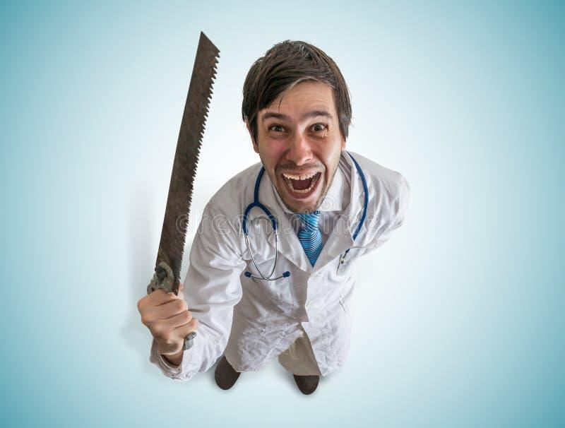 Los controles locos del doctor consideraron a disposición y laughting imágenes de archivo libres de regalías