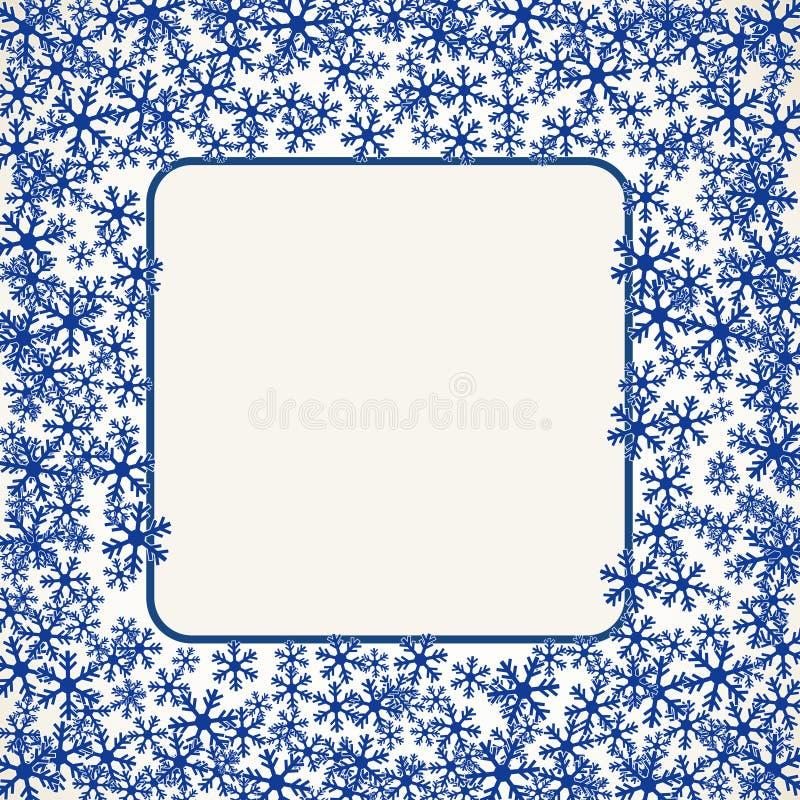 Los copos de nieve de la Navidad esconden el ejemplo del vector del marco libre illustration