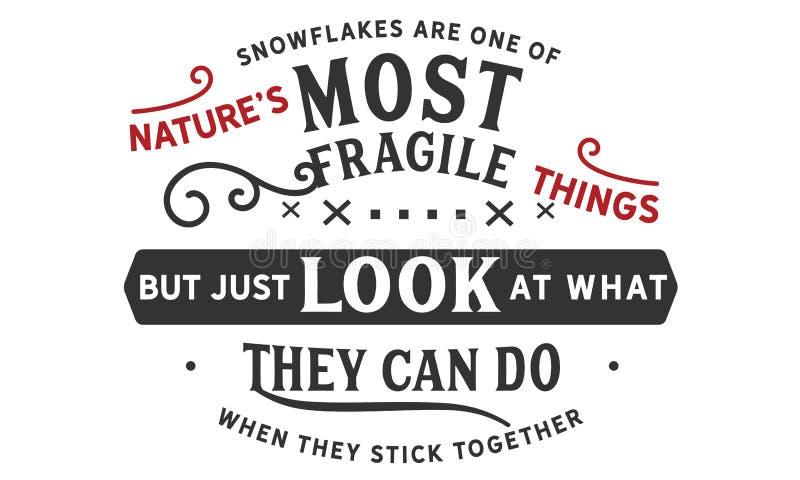 Los copos de nieve son uno del ` s de la naturaleza la mayoría de las cosas frágiles libre illustration