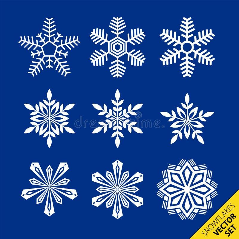Los copos de nieve vector el conjunto libre illustration