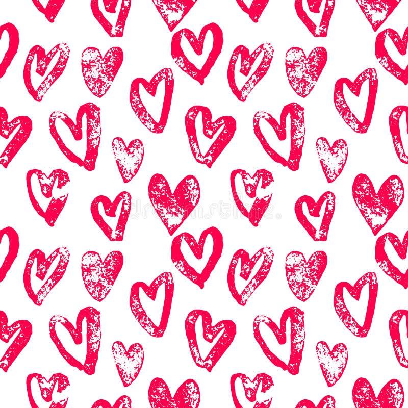 Los corazones modelan los iconos rojos para el arte del día de San Valentín libre illustration