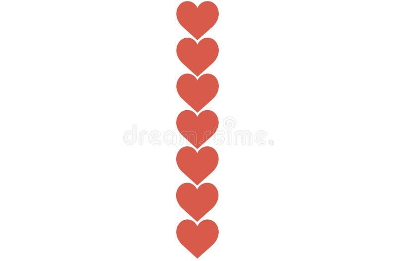 Los corazones rojos diseñan en el fondo blanco Amor, corazón, el día de tarjeta del día de San Valentín Puede ser utilizado para  libre illustration