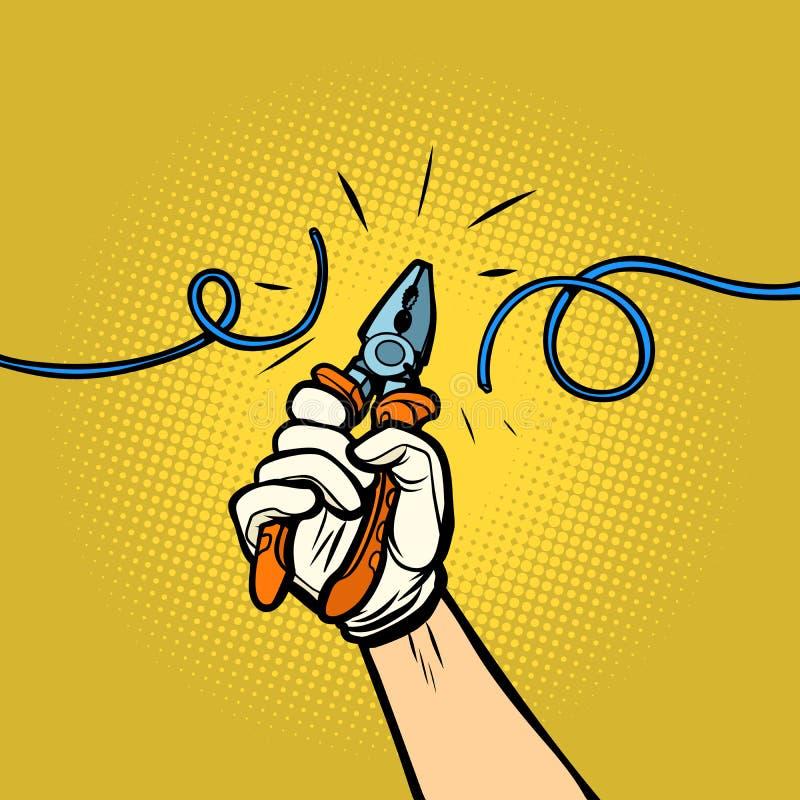 Los cortaalambres cortaron el alambre libre illustration