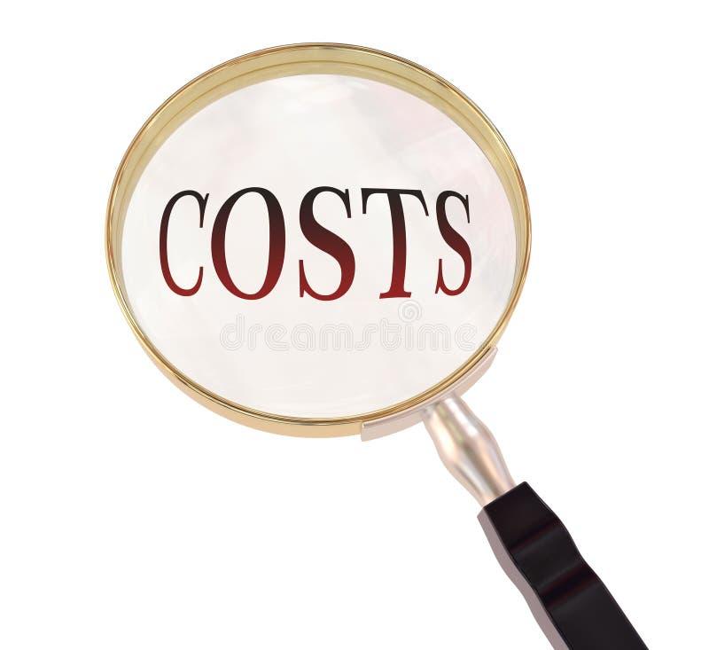 Los costes magnifican stock de ilustración