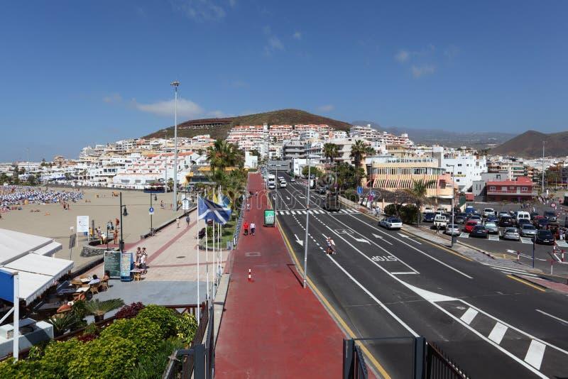 Los Cristianos, Tenerife España imagenes de archivo