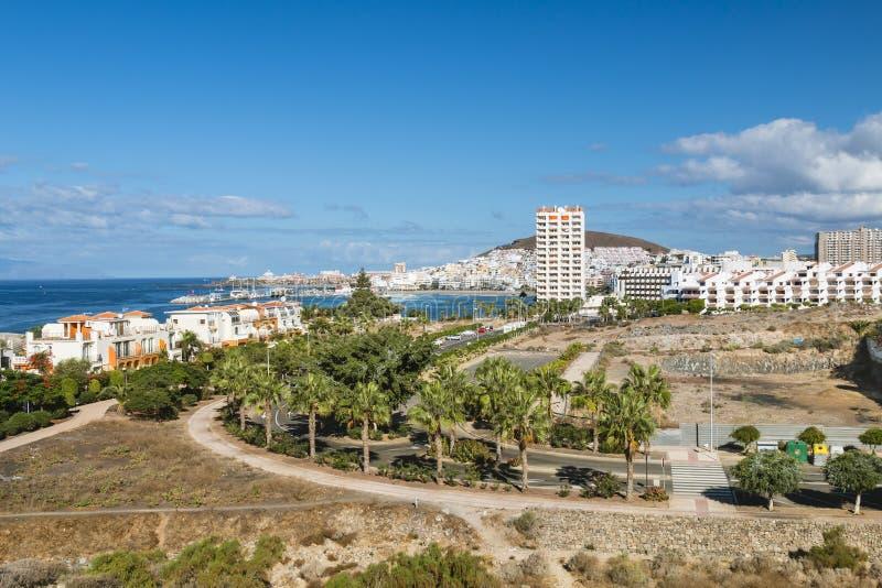 Los Cristianos, Tenerife, Spanien arkivfoto