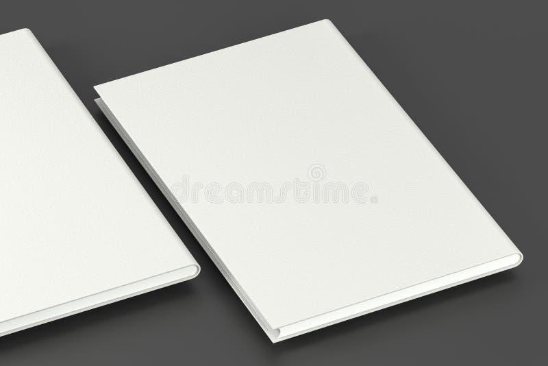 Los cuadernos duros organizados de la cubierta, representación 3d ilustración del vector