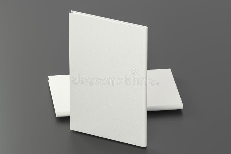 Los cuadernos duros organizados de la cubierta, representación 3d libre illustration
