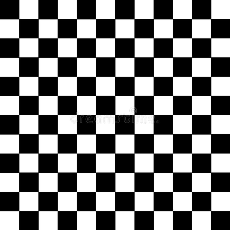 Los cuadrados blancos y negros modelan el icono del fondo grande para cualquier uso Vector eps10 stock de ilustración