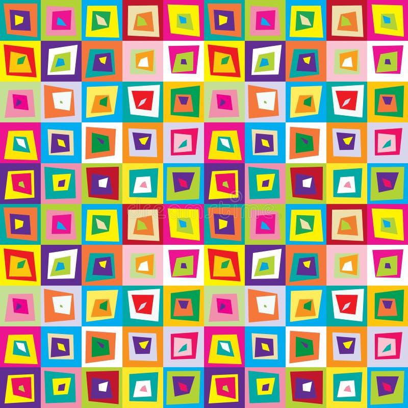 Los cuadrados torcieron el fondo inconsútil colorido del modelo libre illustration