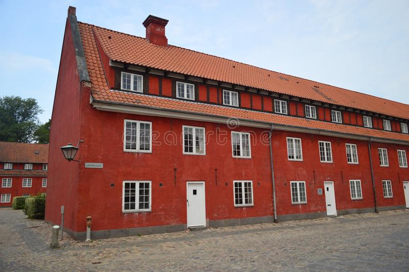 Los cuarteles en el kastellet Copenhague imagen de archivo