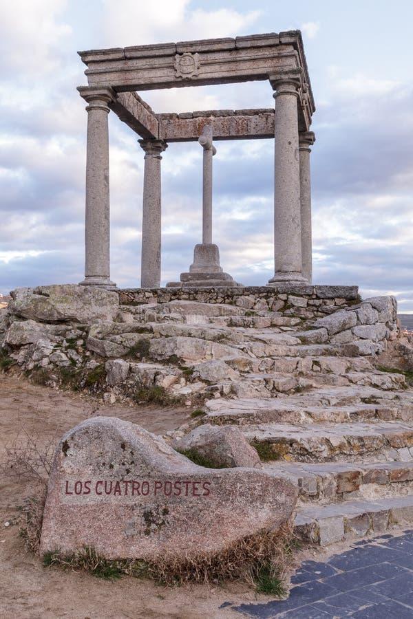 Los-cuatropostes (de fyra polerna), Avila arkivbilder