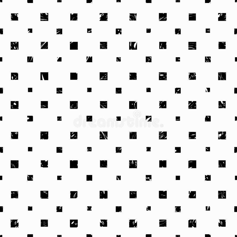 Los cubos en un papel pintado blanco del efecto del grunge del fondo modelan vector inconsútil ilustración del vector