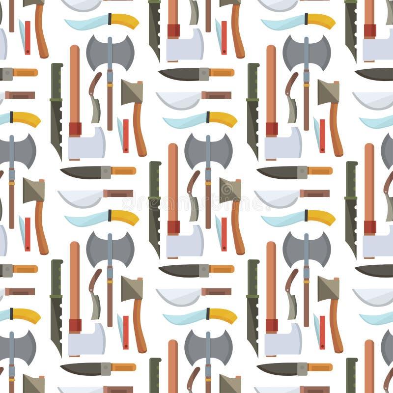 Los cuchillos que cocinan la cuchilla inoxidable del restaurante de la maquinilla de afeitar del almuerzo del utensilio de la coc ilustración del vector