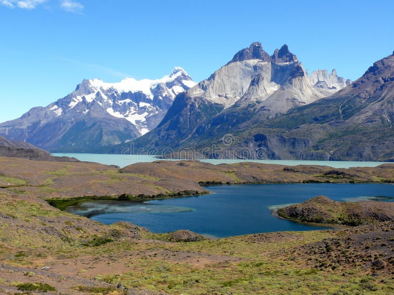 Los Cuernos, Torres del Paine National Park, Chile royalty free stock photography