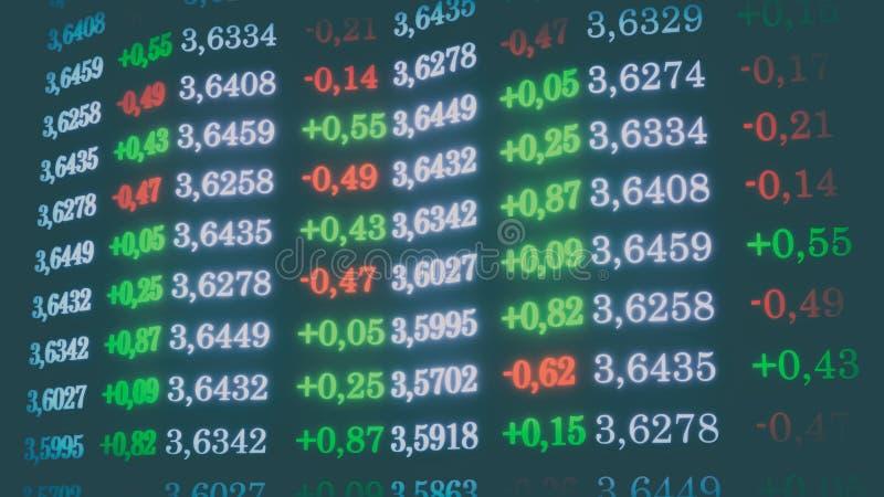 los Dólares de cambio de ejemplo de la tarifa 3d stock de ilustración