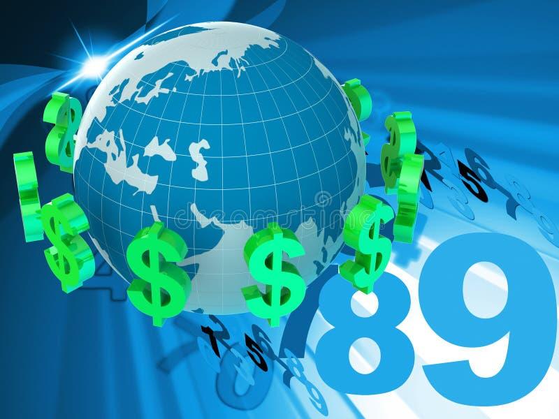 Los dólares de las divisas representan moneda extranjera y el banco ilustración del vector