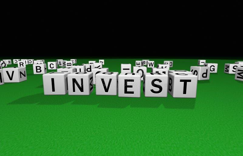 Los dados invierten stock de ilustración